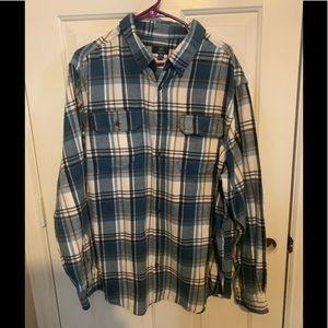 EUC Mens George lg.sleeve button down 2xL (50-52)